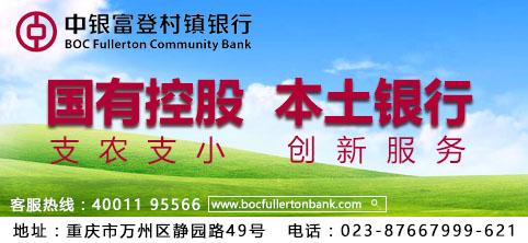 重庆万州中银富登村镇银行有限公司